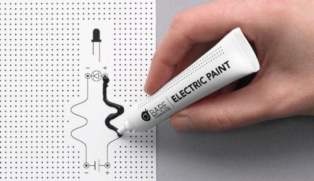 Tinta elétrica engenhosa permite pintar fios que podem conduzir eletricidade